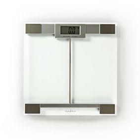 Personvåg | Digital | Transparent | Härdat Glas | Maximal vägningskapacitet: 180 kg