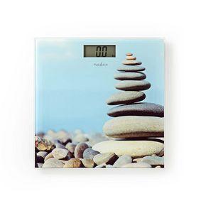 Personvåg | Digital | Stenar | Härdat Glas | Maximal vägningskapacitet: 150 kg