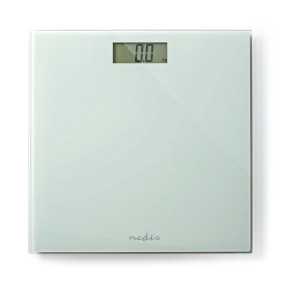 Personvåg | Digital | Vit | Härdat Glas | Maximal vägningskapacitet: 150 kg