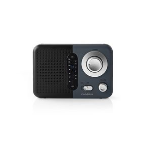 FM Radio | Portable Design | FM | Battery Powered / Mains Powered | Analogue | 2.4 W | Black White Screen | Headphone output | Carrying handle | Black / Grey