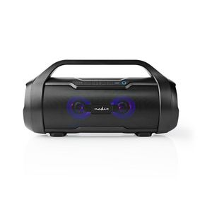 Party Boombox | bis zu 6 Stunden | 2.0 | 60 W | Medienwiedergabe: AUX / Micro SD / USB | IPX5 | Verknüpfbar | Tragegriff | Schwarz