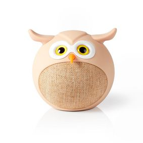 Bluetooth®-Speaker | Batterij speelduur: Tot 3 Uur | Handheld Ontwerp | 9 W | Mono | Ingebouwde microfoon | Koppelbaar | Animaticks Olly Owl | Beige