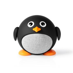 Bluetooth® Speaker | Battery play time: up to 3 Hours | Handheld Design | 9 W | Mono | Built-in microphone | Linkable | Animaticks Pippy Pinguin | Black