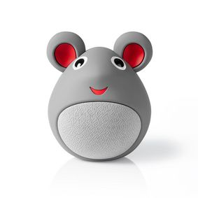 Bluetooth® Speaker | Battery play time: up to 3 Hours | Handheld Design | 9 W | Mono | Built-in microphone | Linkable | Animaticks Melody Mouse | Grey