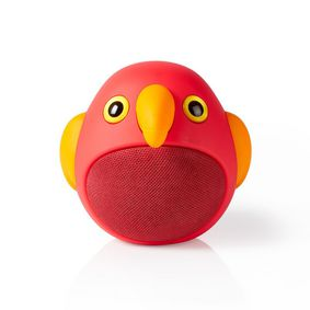 Bluetooth® Speaker | Battery play time: up to 3 Hours | Handheld Design | 9 W | Mono | Built-in microphone | Linkable | Animaticks Perry Parrot | Red