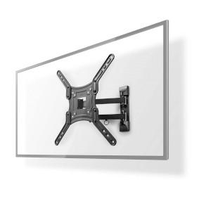 """Fullt bevägligt TV väggfäste   23-55 """"   Maximal skärmvikt som stöds: 30 kg   Går att tilta   Roterbar   Minsta väggdistans: 70 mm   Maximalt väggavstånd: 400 mm   3 Ledpunkter   ABS / Stål   Svart"""