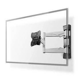 """Fullt bevägligt TV väggfäste   13-26 """"   Maximal skärmvikt som stöds: 30 kg   Går att tilta   Roterbar   Minsta väggdistans: 50 mm   Maximalt väggavstånd: 410 mm   3 Ledpunkter   Stål   Svart"""