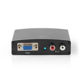 Convertisseur HDMI   HDMI™ entrée   VGA / 2x RCA Femelle   Une voie   1280x768   1.65 Gbps   Aluminium   Anthracite