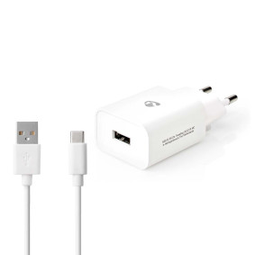 Netzladegerät | 1x 2.4 A | Anzahl der Ausgänge: 1 | Port Type: USB-A | USB Type-C™ (Lose) Kabel | 1.00 m | 12 W | Einzelspannungsausgang