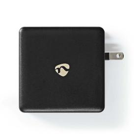 Fali Töltő | Gyors töltés funkció | PD3.0 27W / PD3.0 36W / PD3.0 45W / PD3.0 65W | 3.0 A / 3.25 A | Kimenő csatlakozók száma: 1 | USB-C™ | USB Type-C™ (Lengő) Kábel | 3.00 m | 65 W | Automatikus Feszültség Kiválasztás
