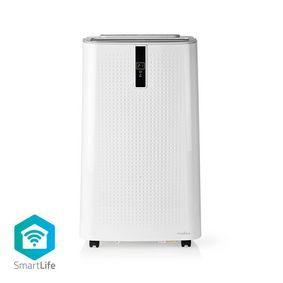 Condizionatore | Wi-Fi | 9000 BTU | 80 m³ | Funzione pulizia dell'aria | Deumidificazione | Android™ & iOS | Classe energetica: A | 3-Velocità | 65 dB | Bianco / Nero