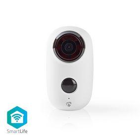 SmartLife Camera voor Buiten | Wi-Fi | Full HD 1080p | IP65 | Maximale levensduur batterij: 10 months | Cloud / MicroSD | 5 VDC | Met bewegingssensor | Nachtzicht | Android™ & iOS | Wit