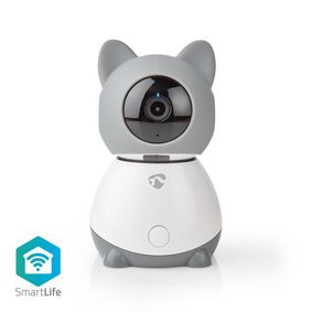 SmartLife Indoor Camera | Wi-Fi | Full HD 1080p | Pan tilt | Cloud / microSD | With motion sensor | Night vision | Android™ & iOS | Grey / White