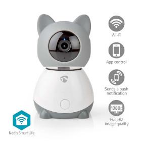 Cámara de interior Smartlife | Wi-Fi | Full HD 1080p | Inclinación | Cloud / Micro SD | Con sensor de movimiento | Visión nocturna | Android™ & iOS | Blanco / Gris