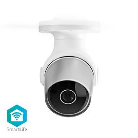 SmartLife Outdoor Camera | Wi-Fi | Full HD 1080p | IP65 | Cloud / microSD | 12 VDC | Night vision | Android™ & iOS | Silver / White
