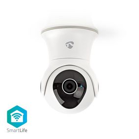 SmartLife Outdoor Camera | Wi-Fi | Full HD 1080p | IP65 | Cloud / Internal 16GB | 12 VDC | With motion sensor | Night vision | Android™ & iOS | White