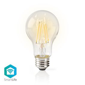SmartLife LED Filamentlamp | Wi-Fi | E27 | 500 lm | 5 W | Warm Wit | 2700 K | Glas | Android™ & iOS | A60
