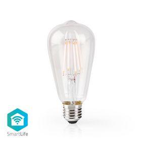 Lampadina LED a filamento SmartLife | Wi-Fi | E27 | 500 lm | 5 W | Bianco caldo | 2700 K | Vetro | Android™ & iOS | Diametro: 64 mm | ST64