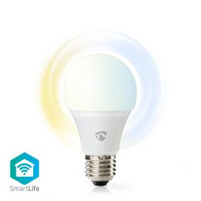 SmartLife LED Bulb | Wi-Fi | E27 | 800 lm | 9 W | Koel Wit / Warm Wit | 2700 - 6500 K | Energieklasse: A+ | Android™ & iOS | A60