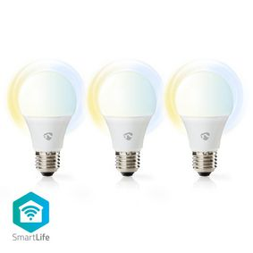 SmartLife LED Bulb | Wi-Fi | E27 | 800 lm | 9 W | Cool White / Warm White | 2700 - 6500 K | Energy class: A+ | Android™ & iOS | Diameter: 60 mm | A60