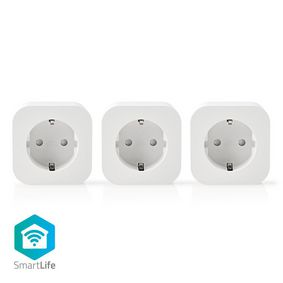 SmartLife Smart Plug | Wi-Fi | 2500 W | Jordet kontakt / Type F (CEE 7/7) | -10 - 45 °C | Android™ / IOS | Hvit