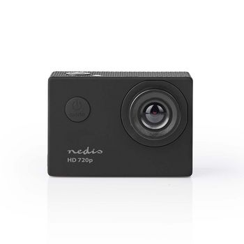 Action Cam | 720p@30fps | 5 MPixel | Waterproof up to: 30.0 m | 90 min | Mounts included | Black