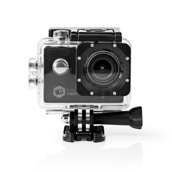 Action Cam | 1080p@30fps | 12 MPixel | Waterproof up to: 30.0 m | 90 min | Wi-Fi | App available for: Android™ / IOS | Mounts included | Black