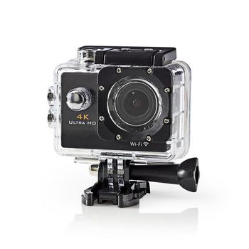 Action Cam | 4K@30fps | 16 MPixel | Waterproof up to: 30.0 m | 90 min | Wi-Fi | App available for: Android™ & iOS | Mounts included | Black