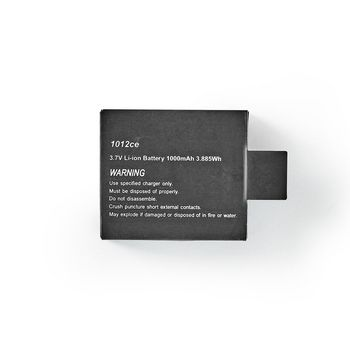 Action Cam Replacement Battery | 1000 mAh | Max. 90 Minutes | 3.7 V