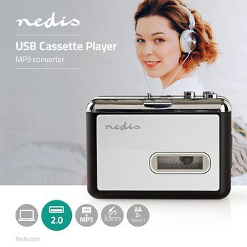 Portable USB Cassette to MP3 Converter | with USB Cable and Software