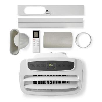Mobile Klimaanlage   12000 BTU   geeignet für Platz bis zu: 31.2 m²   Energieklasse: A   Anzahl Geschwindigkeitseinstellung: 3   Fernbedienung   Abschalt-Timer: 24 h   Weiss
