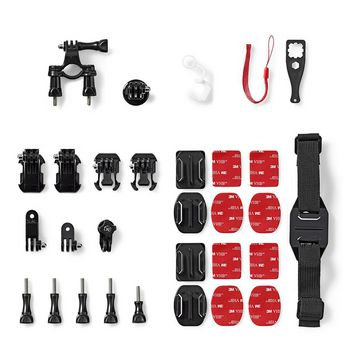 Action Camera Mount Kit | 12 mounts included | Travel Case