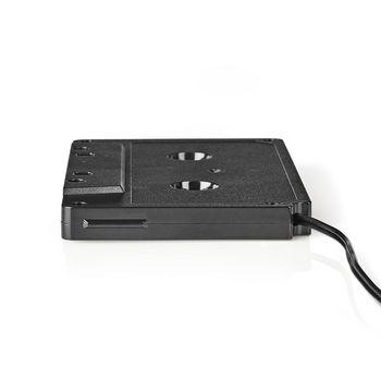 Cassette-adapter | 3,5 mm Mannelijk | Zwart