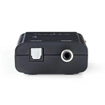 Digitaalinen Audiomuunnin   Yksisuuntainen   Tuloliitäntä: 1x S/PDIF (RCA)   Lähtöliitäntä: Toslink Naaras   Ohjekirja   Antrasiitti