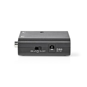 Digital Audio Converter | 1-way | Connection input: Toslink Female | Connection output: 1x S/PDIF | Manual | Black