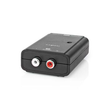 Digitale Audioconverter | 2-wegs | Input: 2x RCA Female | Output: 1x S/PDIF (RCA) Female / 1x TosLink Female | Manueel | Zwart