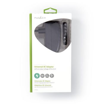 Universal AC Power Adapter | 9.0/12/13.5/15/18/20/24 VDC | 1.0 A - 1.5 A