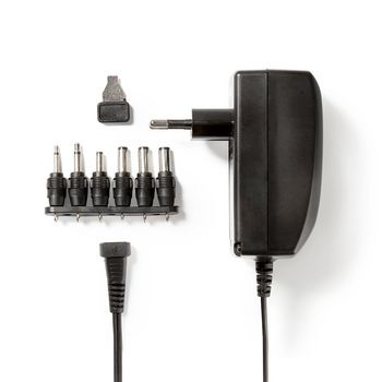 Universal AC Power Adapter | 3/4.5/6/7.5/9/12 VDC | 2.25 A