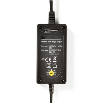 Universal AC Power Adapter | 3/4.5/5/6/7.5/9/12 VDC | 2.25 A