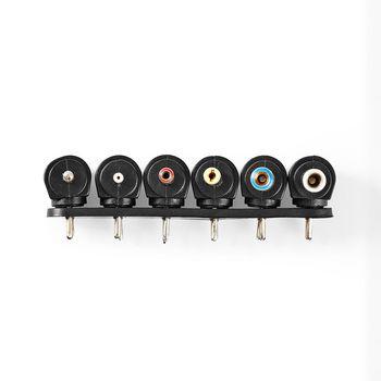 Universele AC-Stroomadapter | Type C (CEE 7/16 | 60 W | 6 / 7.5 / 9 / 12 / 13.5 / 15 / 16 VDC | Uitgangsplug type: 3,5 x 1,1 mm / 3,5 x 1,35 mm / 4 x 1,7 mm / 4,8 x 1,7 mm / 5 x 2,1 mm / 5,5 x 2,1 mm / 5,5 x 2,5 mm / 6,3 x 3 mm | 1.10 m | Ingangsvoltage: AC 100 - 240 V | Selectie uitgangsvoltage: Manueel | Zwart