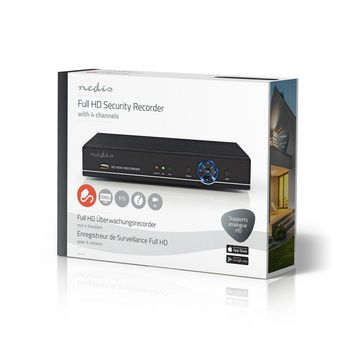 CCTV Security Recorder | 4-Channel | Full HD | 1 TB HDD included