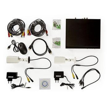 CCTV Security Recorder set | 2x Cameras included | Full HD | 1 TB HDD included