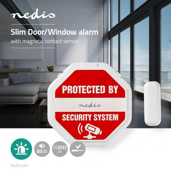 Door/Window alarm with magnetic sensor | batteries included