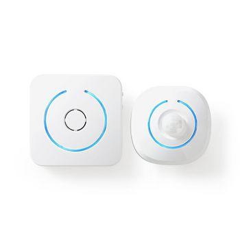 Allarme del rivelatore di movimento per la sicurezza domestica | 8 suonerie | Segnali con luce e suono