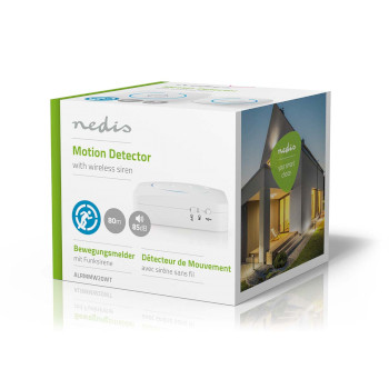 Home Security Motion Detector Chime   8 Ringtones   Signals with light and sound