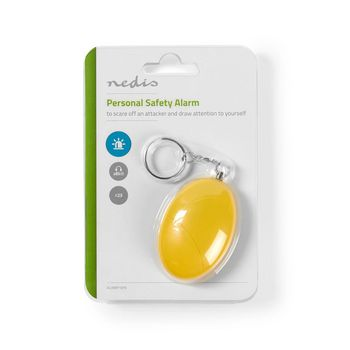 Personal Safety Alarm | Lightweight | ≥ 85dB Alarm | Yellow