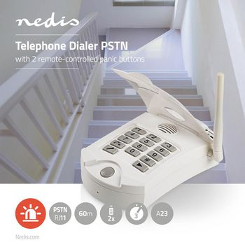 Personal Safety Alarm Dialler | PSTN | 3 Programmable Numbers | Works up to 60 m