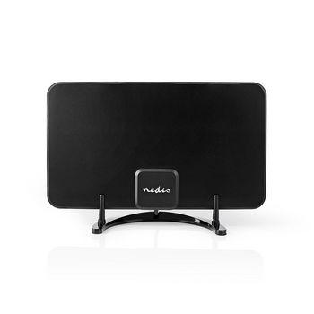Indoor HDTV Antenna | 0 - 25 km | Gain 28 dB | FM/VHF/UHF | Black