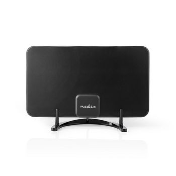 Indoor HDTV Antenna | 0 - 25 km | Gain 28 dB | FM/VHF/UHF | Black