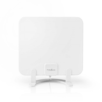 Indoor HDTV Antenna | 0 - 25 km | Gain 30 dB | FM/VHF/UHF | White